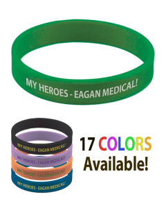 Silicone Wristbands - Color-Filled